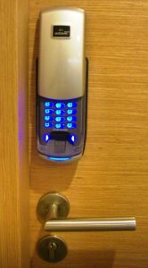 More details A biometric electronic lock with PIN entry