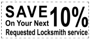Save 10% on your next requested locksmith services